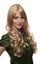 Perruque Heller Blonde Mélange Boucles Long Kopfhautimitat Raie 60 CM 285-27T88