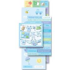 K&COMPANY FLIP PACK BABY BOY PREGNANCY 87 DIE-CUT & 3D SCRAPBOOK STICKERS