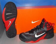 MENS NIKE ZOOM HYPERFUSE 2013 in colors BLACK / SILVER / UNIVERSITY RED SZ 10.5