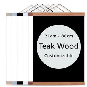 21-80cm DIY Magnetic Wooden Hanger Poster Frames Painting Scroll Simple Picture