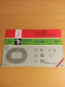 Olympics 80. Football. Football ticket. Finland-Costa Rica. 1980. Original