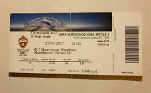 CSKA Moscow v Man Utd - Champions League - 27th September 2017 - Match Ticket