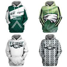 Philadelphia Eagles Hoodies Football Sweatshirt Pullover Fans Casual Jacket Coat