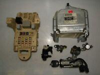 TOYOTA YARIS 2004 LHD 1.3 IGNITION KIT ENGINE CONTROL UNIT ECU SET 89661-0D070