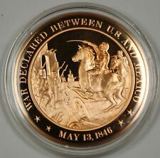Bronze Proof Medal War Declared Between US and Mexico May 13 1846