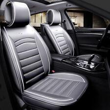 Luxus Qualität Grau Kunstleder 1+1 Vorne Sitzbezüge Gepolstert For