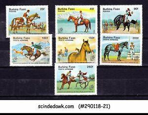 BURKINO FASO UPPER VOLTA - 1985 HORSES / SPORTS - 7V MINT NH
