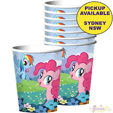 MY LITTLE PONY PARTY SUPPLIES 8 PAPER CUPS GIRLS BIRTHDAY TABLEWARE