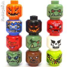 Lego 11x Heads Zombie Vampire Werewolf Devil Pumpkin Monster Ghost Troll - NEW