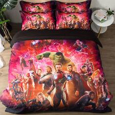 The Avengers Design Bedding Set 3PC Of Duvet Cover Pillowcase Single Double King