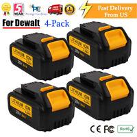 4x 20V DCB200-2 Battery XR Max 4.0Ah Lithium-Ion For DEWALT DCB200 DCB204 DCB205