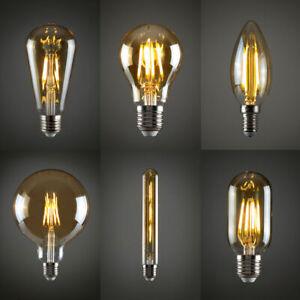 Vintage Filament LED Edison Light Bulb Decorative Lightbulb Lamp Radio Valve A+