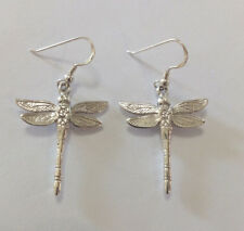 Sterling Silver Dragonfly  Drop Earring