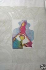 Orchid Sketch Book I by J. Garcia; Floral; The Orchid is Hand Colored Etching