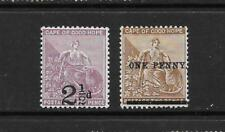 1891 Queen Victoria SG55 & SG57 Surch. Mint Hinged  CAPE OF GOOD HOPE
