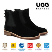 UGG Women Mini Boots Daisy Leather Ankle Boots, Zip Up Chelsea Boots