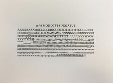 New Letterpress Type 16 On 18 Point Pegasus