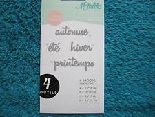 """MétaliKs """" Kési'Art """" 4 Formes de découpe. Dies. Saisons (KD/154 )"""