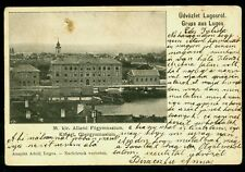 1899 LUGOJ,LUGOS,LUGOSCH,Lyceum,Floating Swimming Pool,Church,Romania,rare card