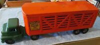 1950s Structo Cattle Farms Metal Pressed Steel Toy Truck