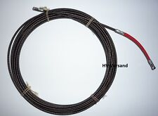 Runpotec Spirale Metall, D=4mm, mit Powergleiter rot, L=10m 30017