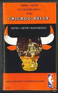 Chicago Bulls 1975-76  basketball media guide