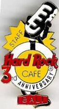 Hard Rock Cafe BALI 1996 3rd Anniversary STAFF PIN - Microphone & HRC Logo #663