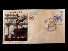 MONACO PREMIER JOUR FDC YVERT  1517     GARE ,  TRAIN        4F       1986