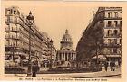 75 - cpa - PARIS - Le Panthéon et la rue Soufflot
