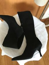 STUART WEITZMAN Womens Black Suede Pointed Toe Pull On Tall Knee High Boots 8.5M