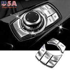 5PCS Interior I Drive Multi-Media Button Cover Trim for BMW 3 4 5 6 i3 Z4 Series