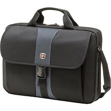 "Swiss Gear Sierra Computer Slimcase Professional Laptop Bag Up to 17"" Black/Stee"