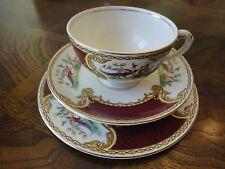 Royal Crown Myotts Teacup Saucer Dessert Plate Set, Chelsea Bird, Signed, No Tax