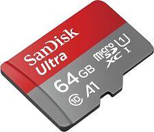 SanDisk Ultra 64GB Class 10, UHS-I microSDXC Speicherkarte mit SD-Adapter (SDSQUAR-064G-GN6MA)