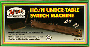 NEW HO/N Atlas 65 Under Table Switch Machine