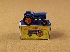 OLD VINTAGE LESNEY MATCHBOX # 72 FORDSON TRACTOR ORIGINAL BOX