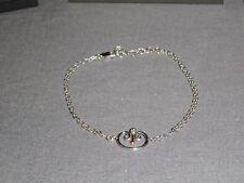 "Clogau Silver & Rose Gold 7"" Kensington Palace London Blue Bracelet RRP £119"