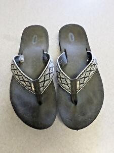 TEVA Black, Blue and Grey Flip Flop Thong Sandals. Men's 13 (eur 47)