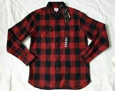 Levi's Men's Flannel Shirt NEW $59 Plaid WESTERN size medium