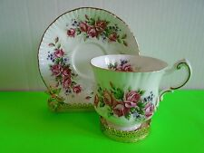 Beautiful Elizabeth Rose Paragon Footed Bone China Tea Cup & Saucer Excellent
