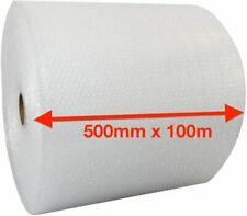 More details for 500mm x 100m small bubble wrap cushioning quality bubble 100 meters long roll