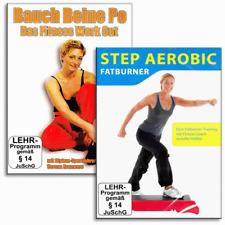 2 Fitness Fettkiller DVD Set - Step Aerobic Fatburner und Bauch Beine Po - Neu