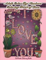 Adult Color by Numbers Coloring Book of Love, Paperback by Zenmaster Coloring...