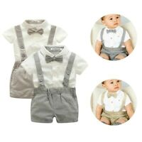 Boys Baptism Outfit Baby Christening Suit Toddler Wedding Formal Cotton Clothes