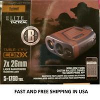 Bushnell 202540, Elite 1 Mile Con-X  Laser Rangefinder 7X26mm, RETAIL PACKED NEW