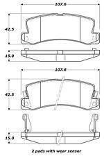 Disc Brake Pad Set-Disc Rear Stoptech 308.03250
