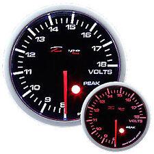 Manometro Strumento 52mm DEPO Voltmetro 8-18 VOLT Allarme + PICCO