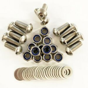 Land Rover Defender 110 Mud Flap fixings set in Stainless Steel. 12 qty