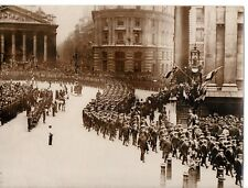 """""""Bluejackets visit to the City of London,passing the Mansion House,1900's"""""""