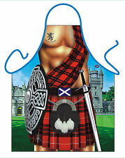 MENS NOVELTY APRON,BRAVEHEART SCOTTISH APRON,SCOTLAND,KILT,TARTAN,KITCHEN APRON